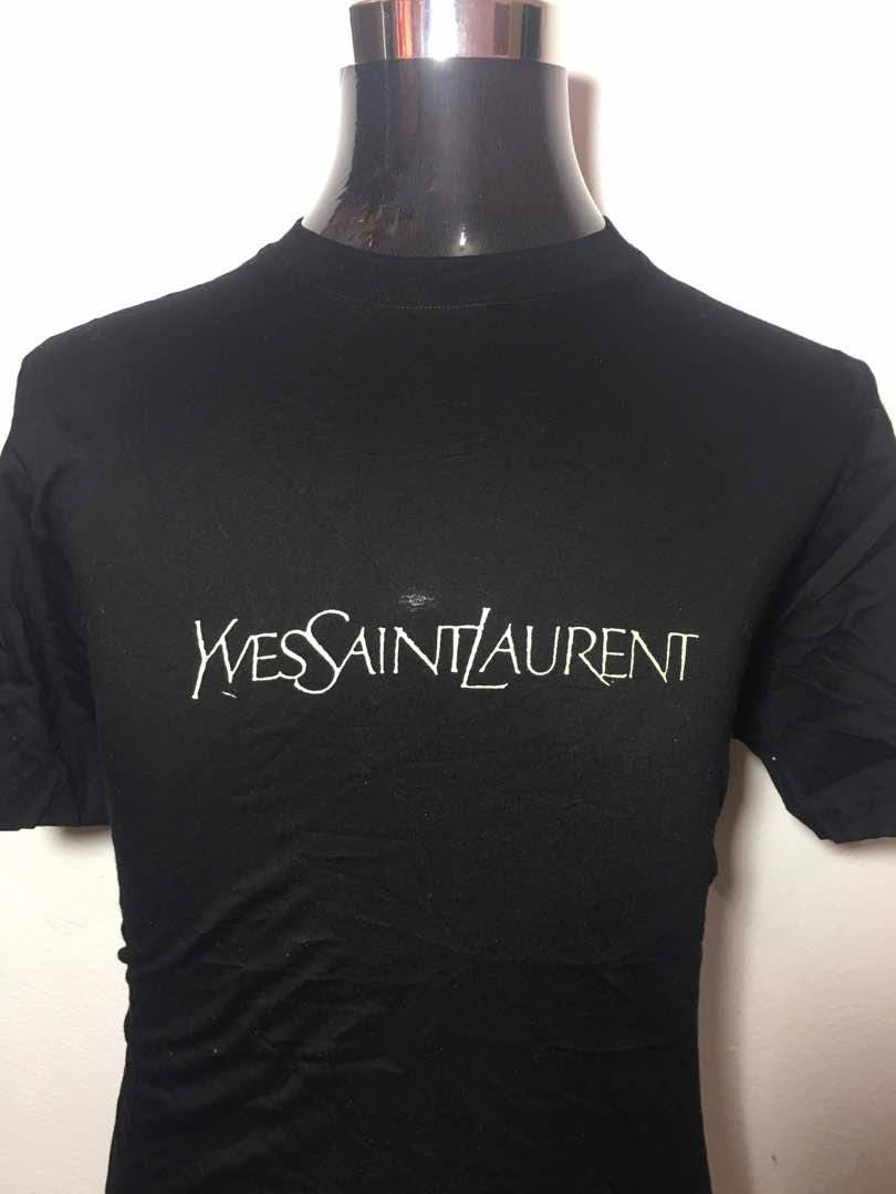 10dcc454 Deadstock YSL Yves Saint Laurent t shirt big logo rare design | Etsy