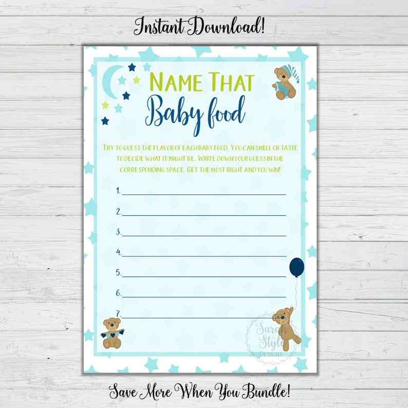 graphic regarding Guess the Baby Food Game Free Printable referred to as Reputation That Boy or girl Foodstuff - Boy Little one Shower Video games - Blue Endure - Quick Down load - Electronic Printable - Reward Video game - Occasion Recreation - Get together Sport