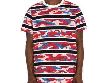 e99876d8 Camo Stacked Rugby Top - Black/Red