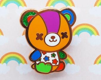 Stitches the Bear Enamel Pin - Animal Crossing