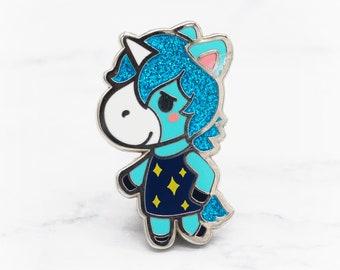 Julian the Unicorn Enamel Pin - Animal Crossing