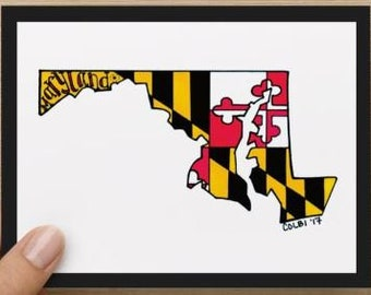 Note cards Maryland set (4)