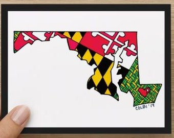 Note cards Maryland Eastern Shore set (4)