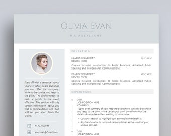 Creative Resume Template, Cover Letter Template for MS Word | Professional, Modern & Minimal CV Template | A4 + US Letter | Instant Download