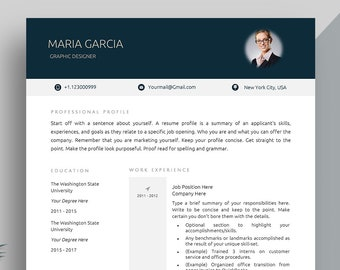 Creative Resume Template, Cover Letter Template for MS Word | Professional, Modern CV Template for Businessman/businesswoman | A4+US Letter