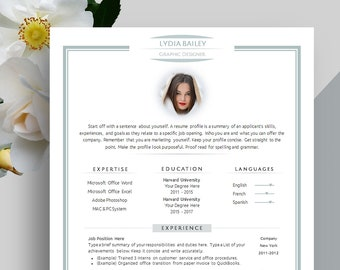 6 Page Creative Resume Template, Cover Letter, Portfolio Template for Word | With Photo | Professional & Modern Design CV for Artist