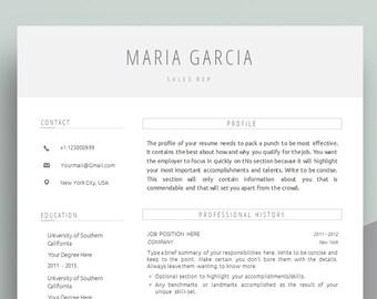 creative resume etsy