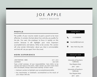 Minimalist resume template cover letter icon set for minimal resume template cover letter template for word professional modern minimal cv yelopaper