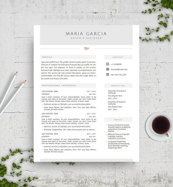 Clean Resume Template for Word Elegant Resume Template