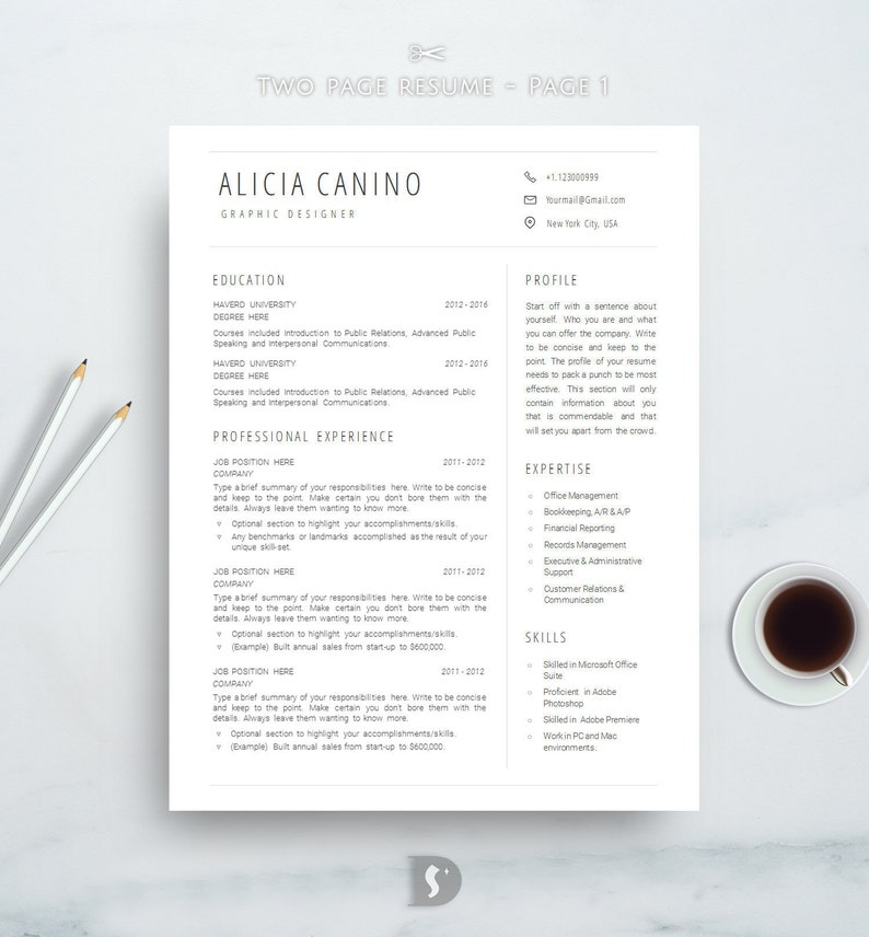 Clean Resume Template Simple Best Minimal
