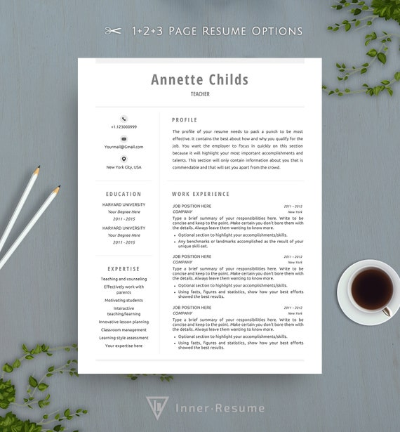 Clean Resume Template For Word Simple Resume Template Professional Resume Functional Cv Creative Modern Job Resume For Teacher Nurse