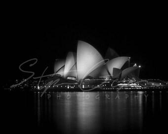 Sydney Opera House - B&W - photography - print