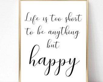 Short Happy Quotes Etsy