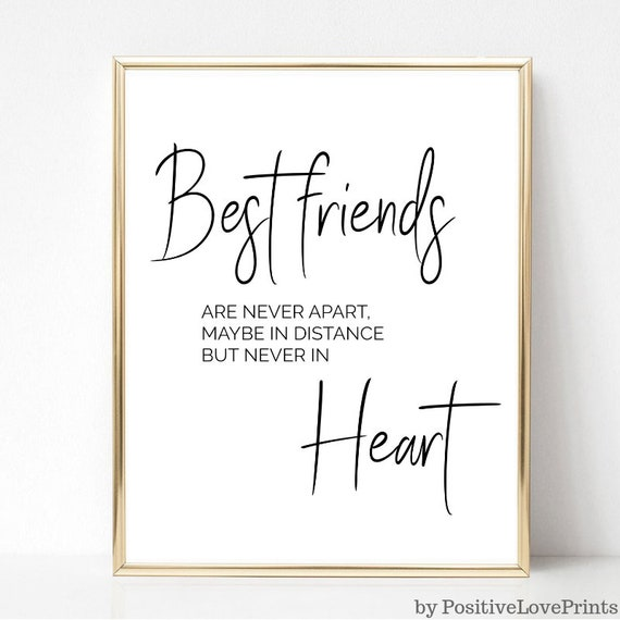 Best Friend Printable Wall Art, Friendship Quote Poster, Friend Quotes,  Friend Wall art, Modern Wall Art, Home Decor, Digital Download