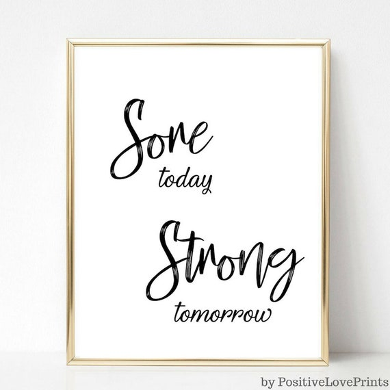 GYM FITNESS MOTIVATION WORKOUT quote positive poster picture print wall art