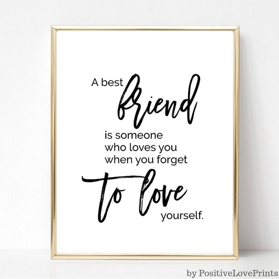 friend printable wall art friendship quote poster best