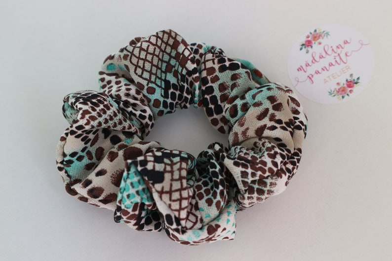 Animal Print Scrunchie Handmade Hair Fashion Hair Ties 80s  c0eac482f1b