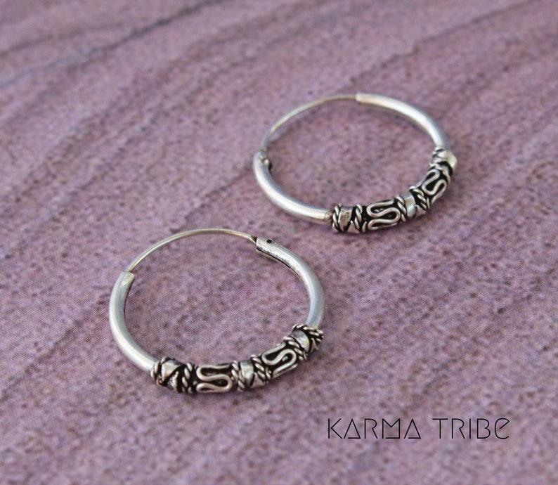 813919cf6 18mm silver Bali hoop earrings 925 silver dainty hoop   Etsy