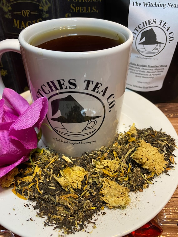 The Witching Season Scottish Breakfast Tea - Organic Fair Trade Super -  Strong Black Tea Blend - Witches Tea