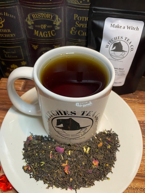 Make a Witch Assam Banaspaty Strong Black Tea Blend - Organic Fair Trade - New Moon Manifestation Tea - Witches Tea