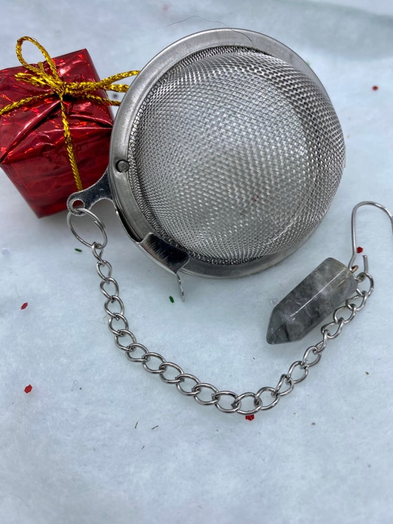 Smoky Quartz Crystal Tea Infuser Pendulum