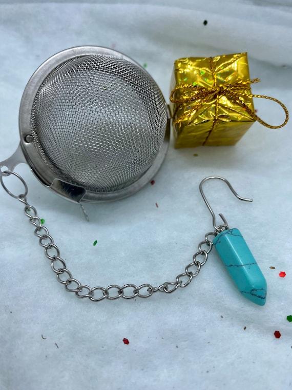 Turquoise Crystal Tea Infuser Pendulum