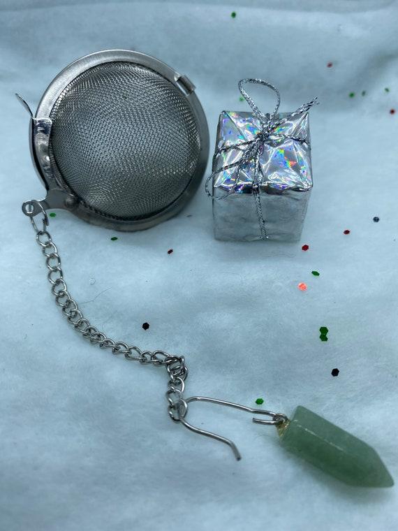 Aventurine Crystal Tea Infuser Pendulum