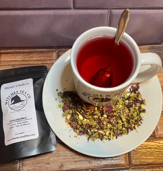 Heart Chakra Loose Leaf Tea ~ Decaffeinated - Organic Fair Trade - Grief Tea - Self Care Blend - Witches Tea