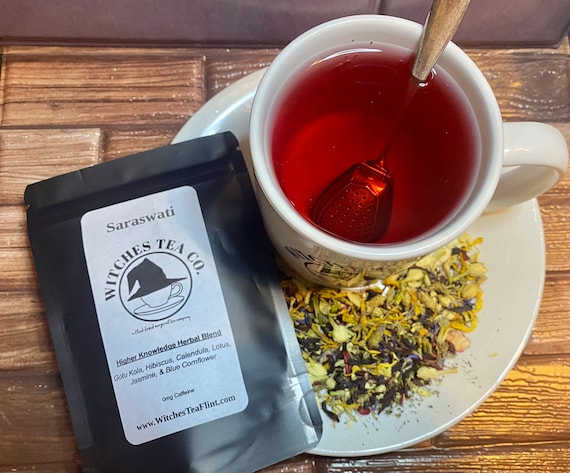 Saraswati Loose Leaf Herbal Tea ~ Decaffeinated - Organic Fair Trade - Witches Tea - Hindu Goddess Tea - Ayurvedic Tea