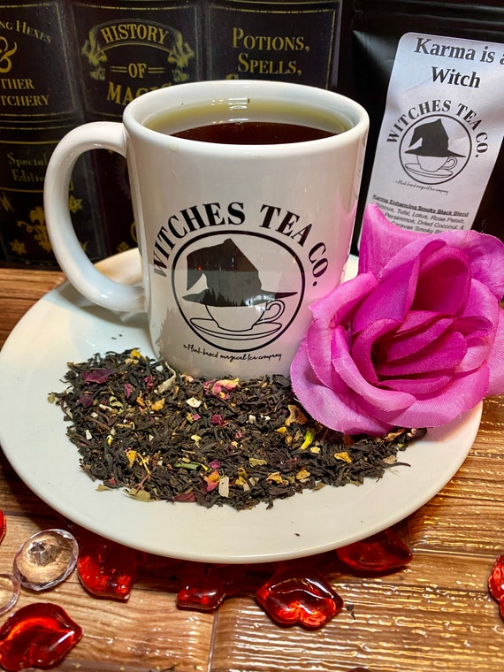 Karma is a Witch ~ Smoky Russian Caravan Black Tea blend - 0rganic & Fair Trade - Witches Tea