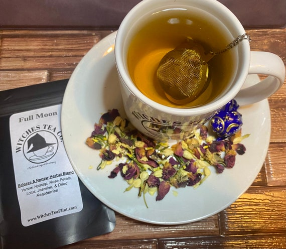 Full Moon Herbal Tea Blend ~ Decaffeinated - Organic Fair Trade ~ Loose Leaf - Witches Tea - Lunar Goddess Blend