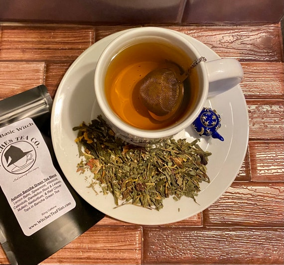 Not A Basic Witch ~ Bancha Japanese Green Tea Blend - Organic Fair Trade - Witches Tea