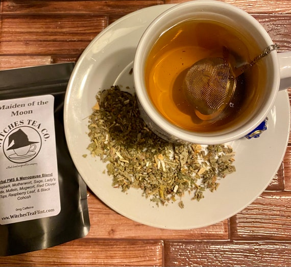 PMS & Menopause Tea ~ Maiden of the Moon Loose Leaf Herbal Tea  - Organic Fair Trade