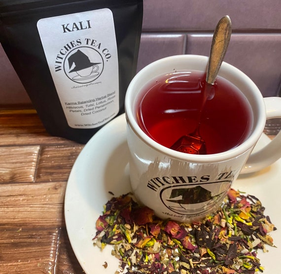 Kali Herbal Loose Leaf Tea - Decaffeinated - Organic Fair Trade - Witches Tea - Hindu Goddess Tea - Karmic Blend
