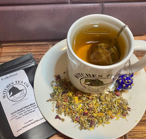 Lakshmi Loose Leaf Herbal Tea Blend ~ Decaffeinated - Organic Fair Trade - Hindu Goddess Tea - Witches Tea - Ayurvedic Tea