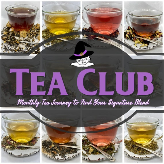 Month-Long Witchy Teas Club - 31 Days of Tea - Monthly Tea Sampler - Organic Fair Trade