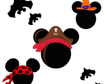 Mickey Mouse Heads SVG Disney Svg Minnie Head Ears Eps