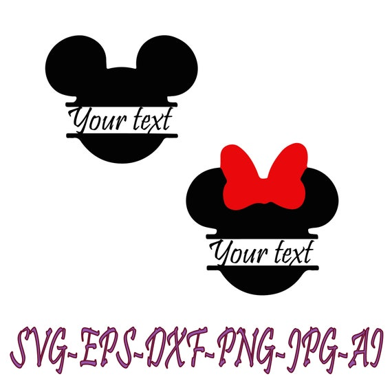 Minnie Mouse SVG Digital Download Head Vector