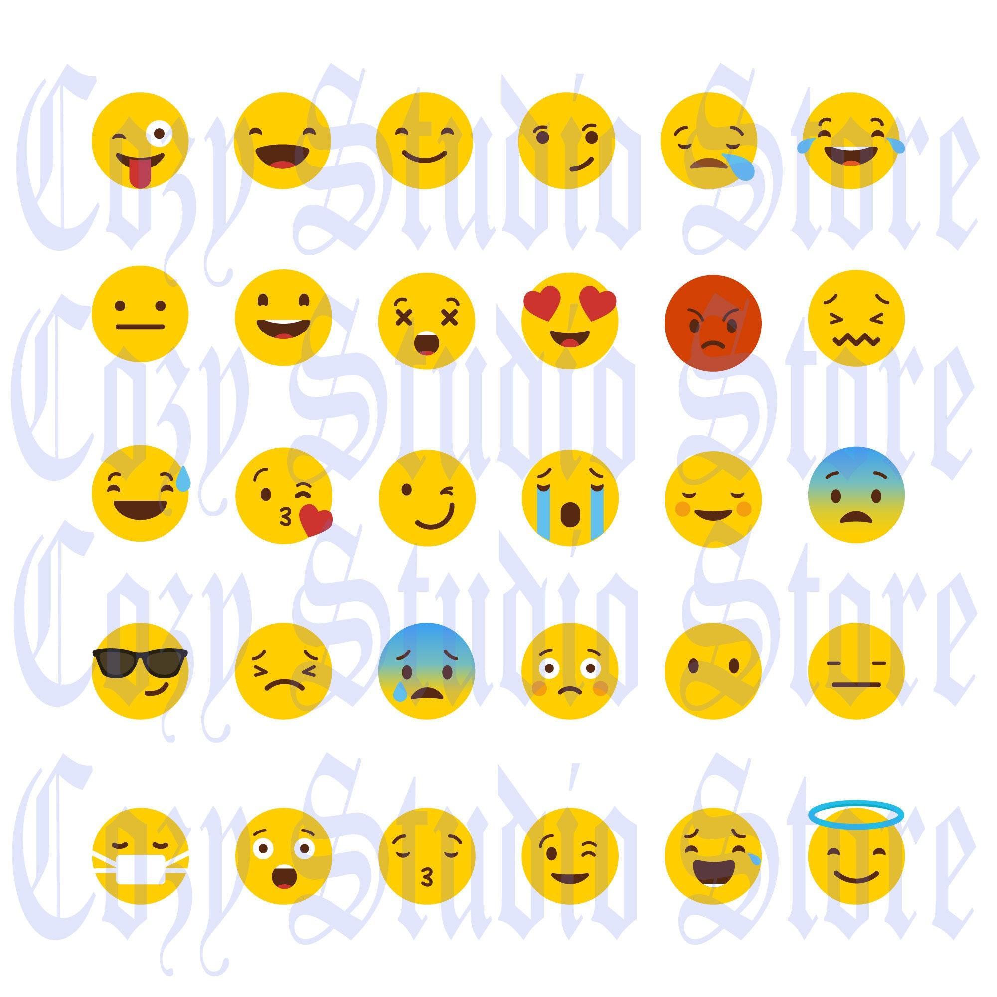 Emoji SVG, Emoji EPS, DXf, Emoji Collection, Emoji clipart,Smiley  faces,Emojis Eps, Printable emoji, Smiley Svg,Emoji Svg bundle,digital