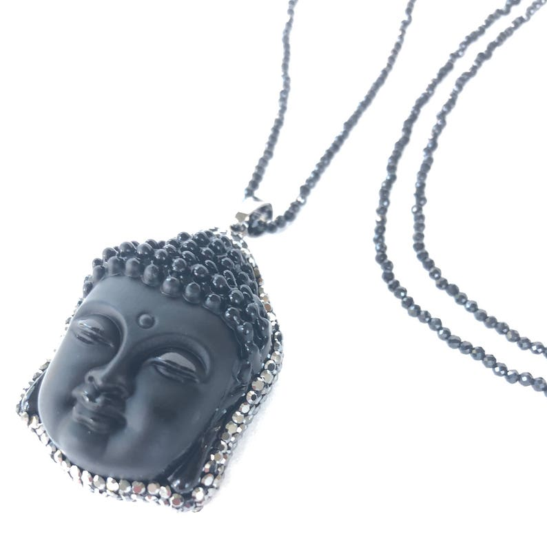 Pavé Buddha Necklace image 0