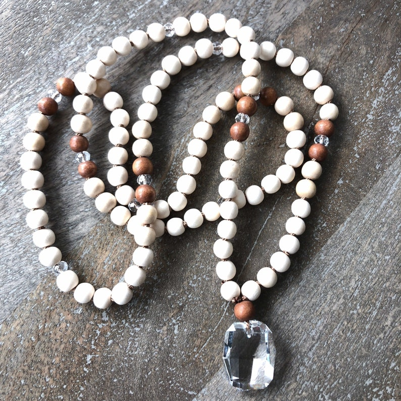 108 Beaded Sands of Serenity Mala Beach Yoga Girl Mala 108 image 0