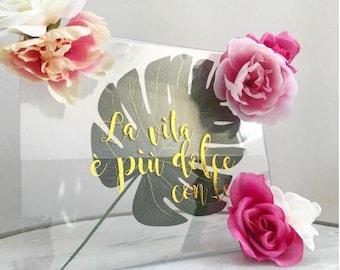 Plexi signalisation Floral