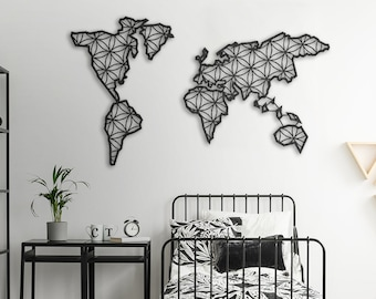 Metal wall art etsy liv metal world map metal wall decor metal wall art steel world map world map interior weltkarte carte du monde metal metall gumiabroncs Images
