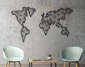 Metal World Map, World Map, Metal Wall Decor, Metal Wall Art, Steel World Map, World Map Interior, Weltkarte, carte du monde metal, metall