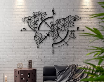 c073be2f99 Map of Life - Metal World Map, Metal Wall Decor, Metal Wall Art, Metal  Sign, World Map Wall Art, Metal Art, Housewarming Gift, Wall Hangings