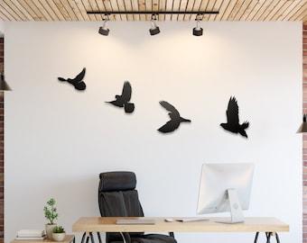 Freedom - Wall Art,XLarge Wall Art,Oversized Wall Art,Bedroom Wall Art,Animal Art,Bird Art Metal,Bird Artwork,Flying Birds,Modern Wall Art