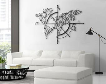 Good Map Of Life   Metal World Map, Metal Wall Decor, Metal Wall Art, Steel  World Map, World Map Interior, Housewarming Gift