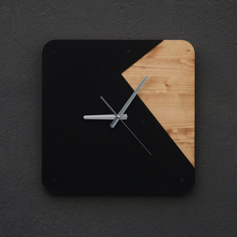 Tokio Wall Clock Modern Clock Wooden Wall Clock Living | Etsy