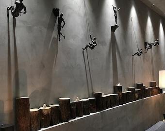 Zero Gravity - Adventurer, Climbing Man, Wall Sculpture, Climbing Adventurer, Wall Decor, Wall Hanging, Wall Accesory