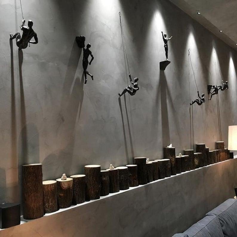 攀岩者墙壁装饰